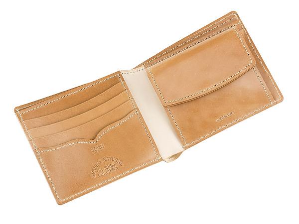 二つ折り財布 ナチュラルコードバン