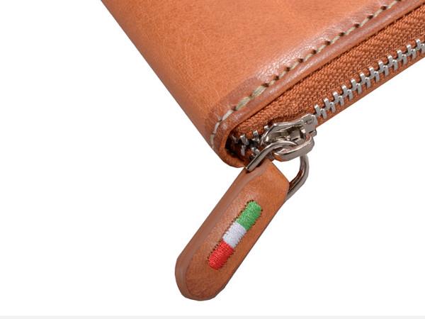 オリーチェバケッタレザーロングジッパー財布