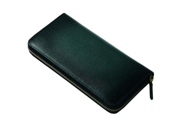 スフマート製法で染色したラウンドファスナー長財布